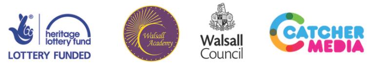 HLF Walsall Academy Walsall Council Catcher Media logos