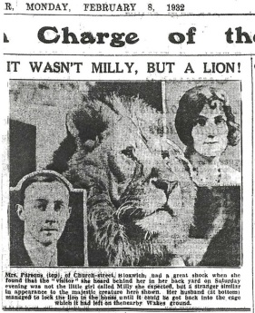 Lion escapes 1932